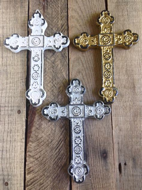 Decorative Cross by Set Of 3 Decorative Crosses Wall Cross By Shineboxprimitives