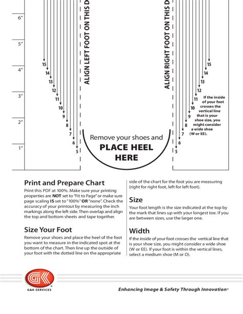 Men S Shoe Sizing Chart Free Download Shoe Measuring Template