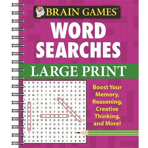 large print word games printable brain games large print word searches