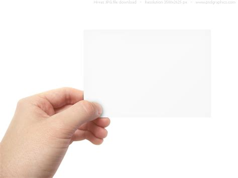 holding business card template blank business card in psdgraphics