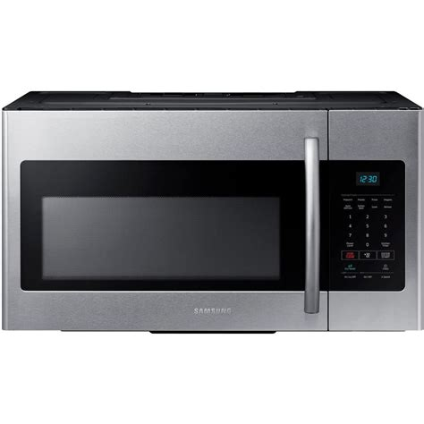 Samsung 30 in. W 1.6 cu. ft. Over the Range Microwave in Stainless Steel ME16H702SES   The Home