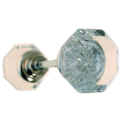 glass doorknob glass octagonal doorknob set