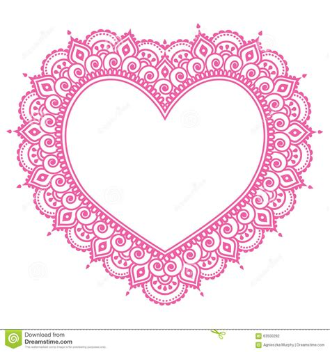 heart mehndi pink design indian henna tattoo pattern