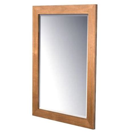 kraftmaid 30x36 in framed wall mirror in praline stain
