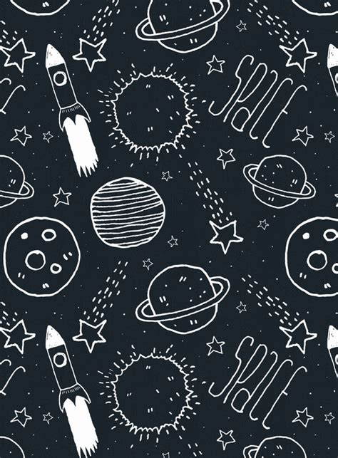 Space And Pattern In Art | space doodles digital illustration graphics and aesthetics
