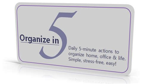 5 minute journal organize your and get most out of each day books get organized in 5 minutes a day new program