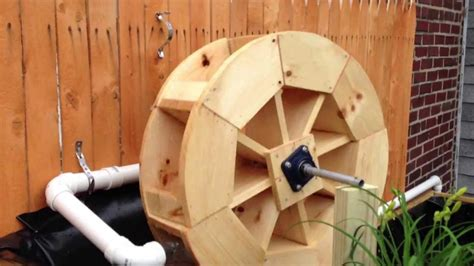 water wheel pattern woodworking plans wooden koi pond with waterwheel