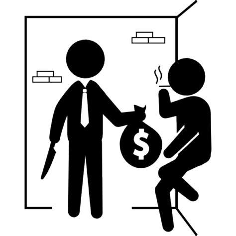 Como Buscar Record Criminal De Una Persona Delincuentes Armados Con Una Bolsa De Dinero Descargar Iconos Gratis