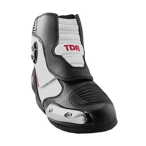 Sepatu Boots Black And White jual tdr one racing sepatu boots black white harga kualitas terjamin blibli