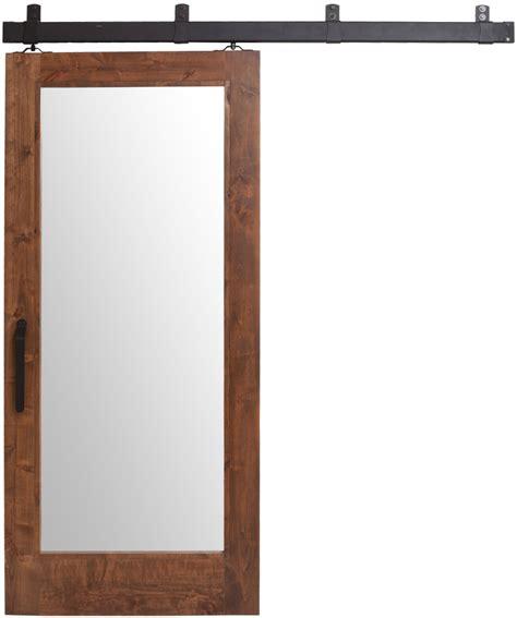 Mirrored Sliding Barn Door Interior Sliding Mirrored Barn Door Rustica Hardware