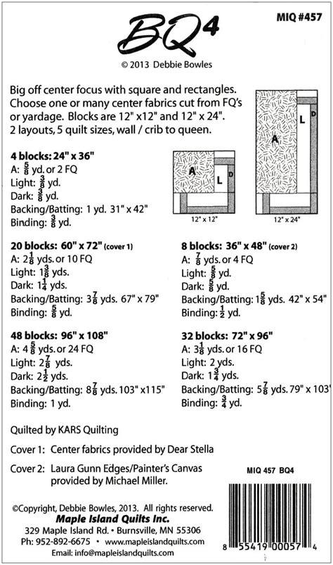 Bq Quilt Pattern Yardage | bq nation maple island quilts