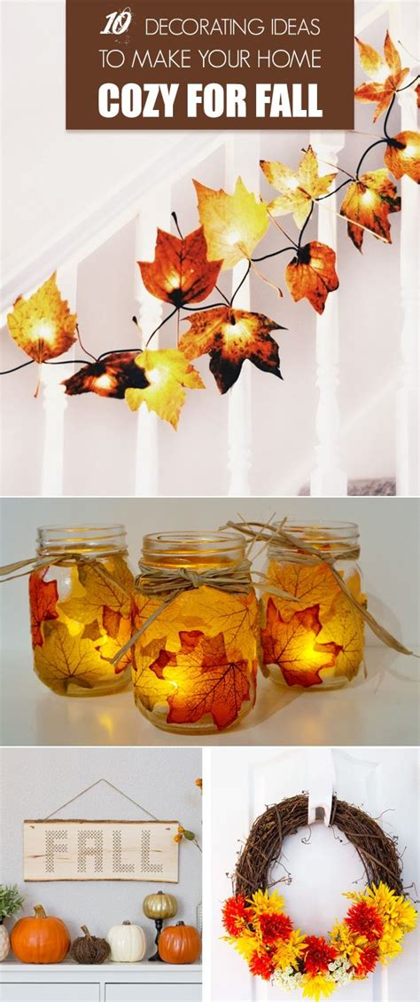 cheap fall decorations for home 10 decorating ideas to make your home cozy for fall