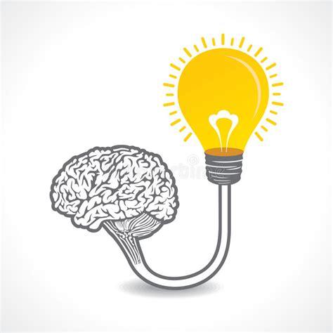 new idea new idea concept or bulb connect to the brain concept