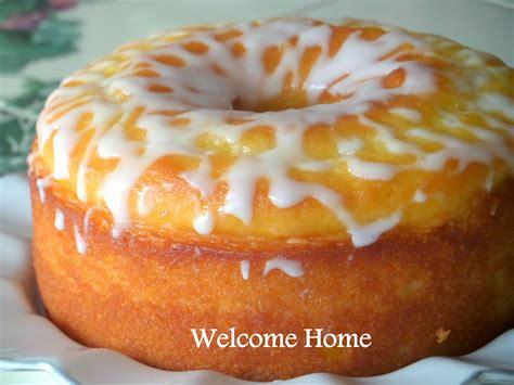 Lemon Cake by Welcome Home Lemon Cake With Lemon Vanilla Glaze