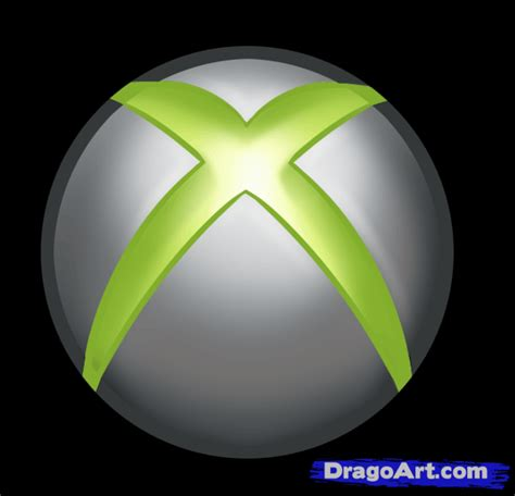 Drawing Xbox Logo by How To Draw The Xbox Logo Step By Step