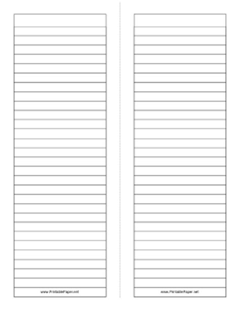 Printable Foldable 2 page tall Note Paper