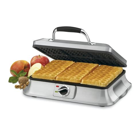 best waffle iron cuisinart waf 6 traditional style 6 slice waffle iron review