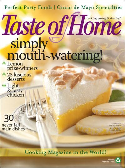 free 1 year subscription to taste of home magazine