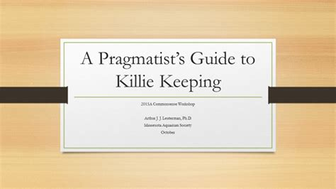 the pragmatist s guide to a guide to creating your own answers to s questions books a pragmatist s guide to killie keeping monthly meeting