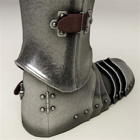 armour boots armour boots 3d model