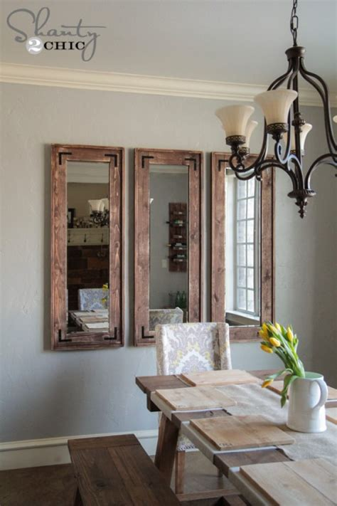 Dining Room Chairs Cheap by Diy Rustic Wall Mirrors Made From Cheap Plastic Framed