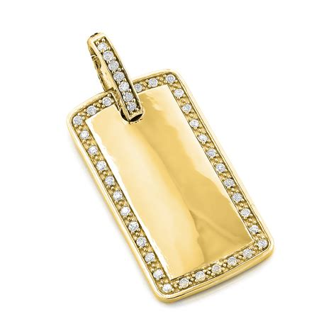 tag jewelry 14k gold tag pendant 1 10ct