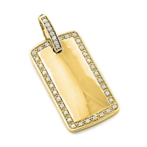 14k gold 14k gold tag pendant 0 8 ct