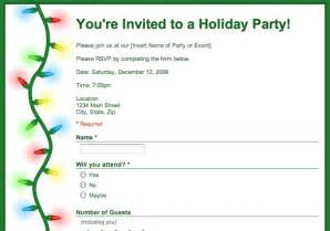 rsvp template for event drive december 2009