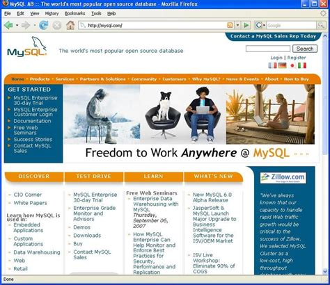 new mysql web site home page theopenforce