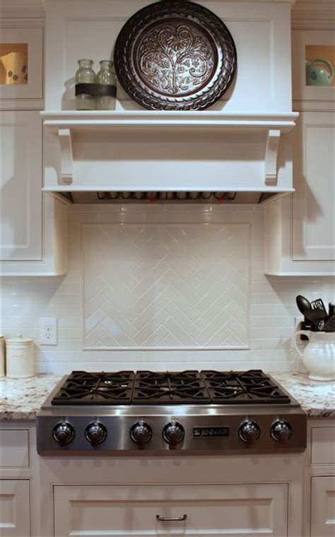 great backsplash subway tile simple hood and herringbone herringbone tile detail over the stove oak ridge revival