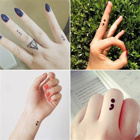 semicolon project tattoo semicolon project ideas popsugar