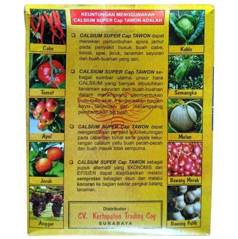 Pupuk Kalsium Tanaman pupuk calcium kalsium cap tawon 1 kg sumber plastik