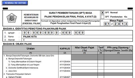tarif ptkp pph 21 tahun 2015 wajib pajak jangan sai salah menggunakan formulir spt