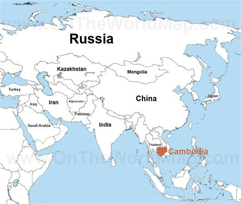 location of asia in world map gvt cambodia kyusangchoi