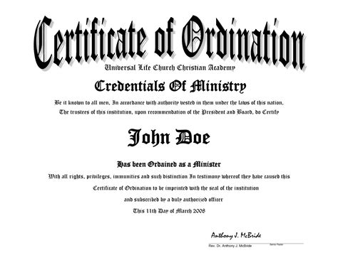 10 Best Images Of Sle Ministers License Certificate Minister License Certificate Minister Minister License Template