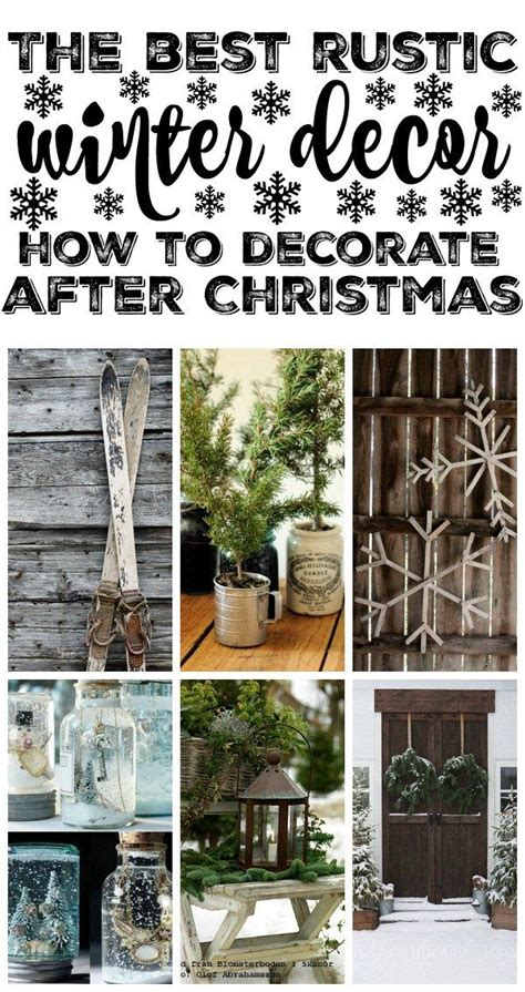 15 must see rustic winter decor pins winter wood crafts