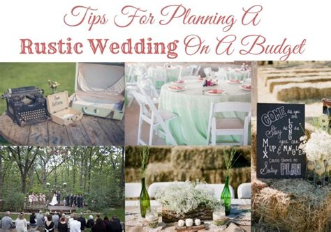 wedding ideas on a budget for tips for planning a rustic wedding on a budget rustic wedding chic