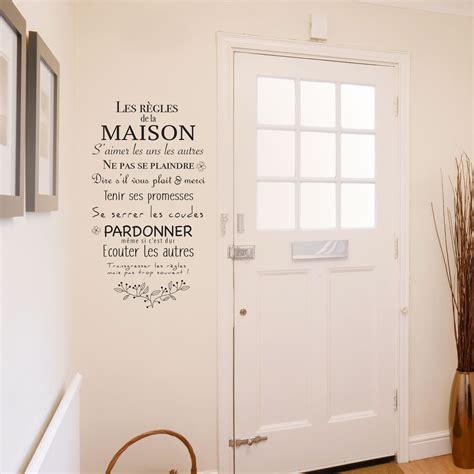 stickers pour maison sticker sur les r 232 gles de la maison et de la famille pour murs