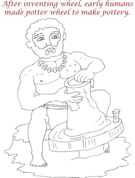early humans coloring page early humans printable coloring page for kids 7