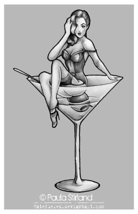 retro martini drawing pin up martini by hatefueled on deviantart