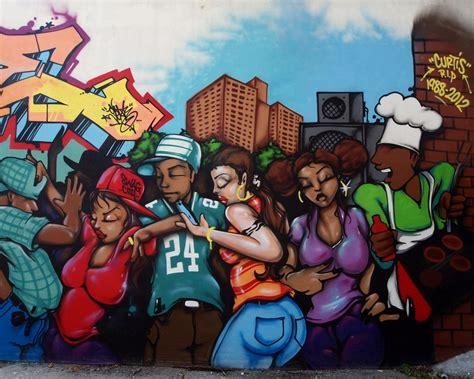dj dance graffiti mural soundview bronx  york city