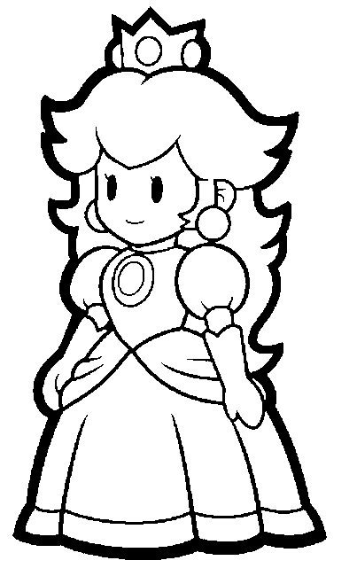 Mario Coloring Pages Black And White Super Mario Paper Princess Coloring Pages