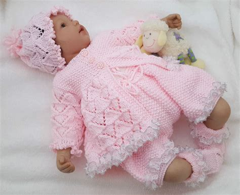 knitted baby baby knitting pattern dk 59 to knit or reborn dolls