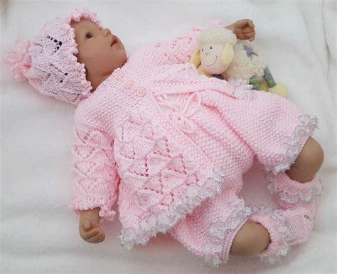 pattern free baby baby knitting pattern dk 59 to knit girls or reborn dolls