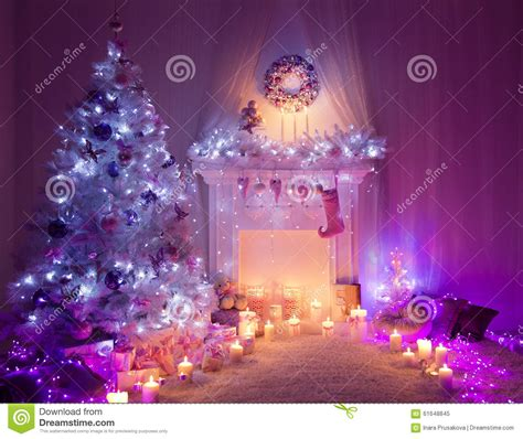 image of home decoration christmas room fireplace tree lights xmas interior home