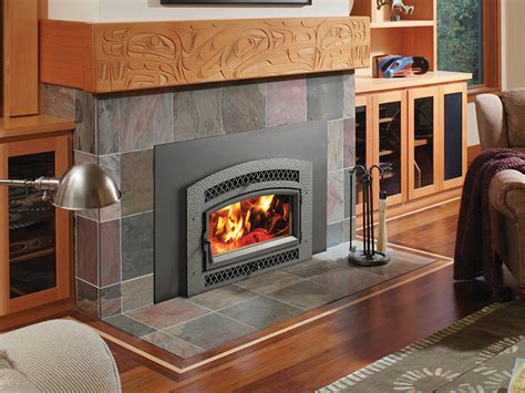 flush wood plus arched wood fireplace insert fireplace