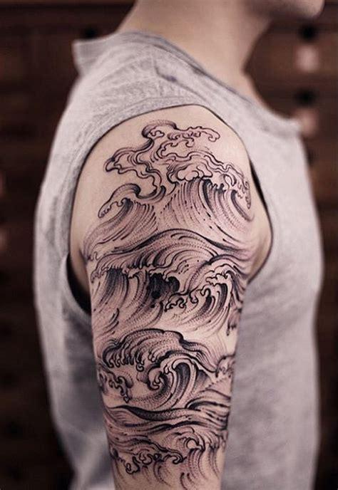 quarter sleeve tattoo waves 70 eye catching sleeve tattoos nenuno creative