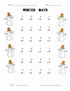 winter math worksheet education com