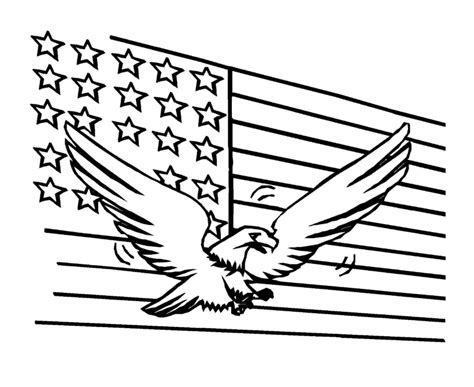 Coloring Pages Of The American Eagle | american flag coloring pages best coloring pages for kids