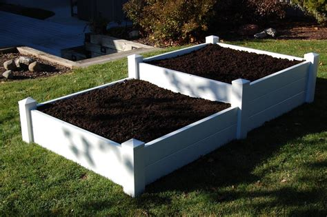 Plastic Raised Planter Boxes by Pvc Planter Boxes Garden Planting Boxes From Sturdy Vinyl